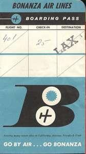 Bonanza Airlines ticket jacket wallet [108 3]
