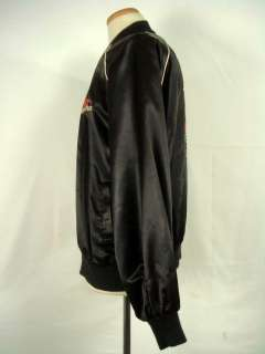 Vintage HARLEY DAVIDSON Black Satin Zip Up Jacket XL