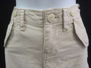 PAPER DENIM & CLOTH Khaki Cargo Capris Shorts Size 26