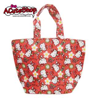 Hello Kitty Insulated Diaper Tote Bag Red Sanrio