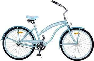 New Bike Baby Blue Ladies 26 Beach Cruiser Bicycle