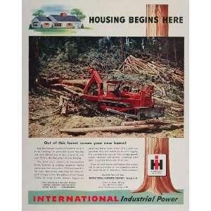 Harvester Tractor Logging Forest   Original Print Ad: Home & Kitchen