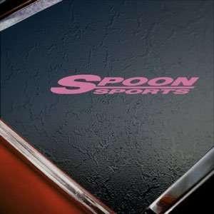 Spoon Pink Decal Sports Mugen Integra Honda CRX Car Pink