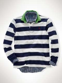 Classic Fit Stripe Rugby   Big & Tall Rugbys   RalphLauren