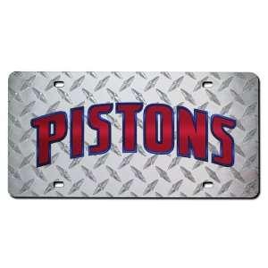 Detroit Pistons Deluxe Diamond Plate Laser Cut License