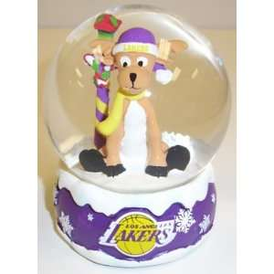 Los Angeles Lakers NBA Holiday Snow Globe: Sports