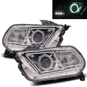 10 11 Ford Mustang Chrome CCFL Halo Projector Headlights Automotive