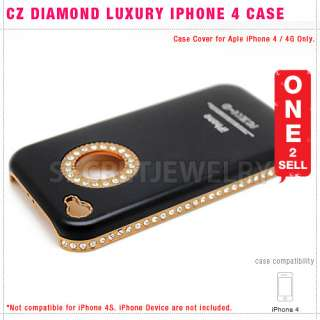 CZ Diamond Chrome Aluminum Metal Skin Hard Back Case Cover for iPhone