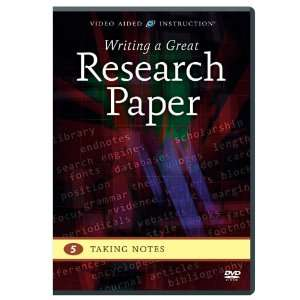 Research Paper: Taking Notes: Video Aided Instruction: Movies & TV