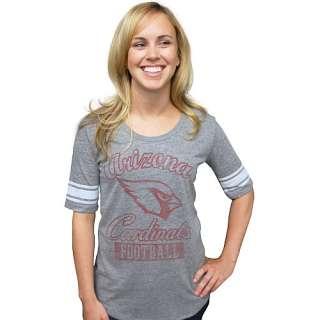 Junk Food Arizona Cardinals Womens Vintage Triblend Varsity T Shirt