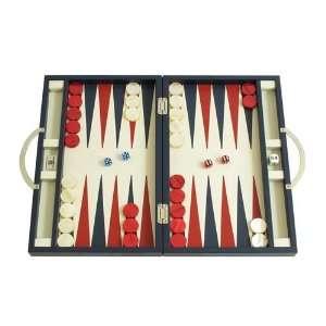 Zaza & Sacci Leather Backgammon Board Game Set (15 Luxury