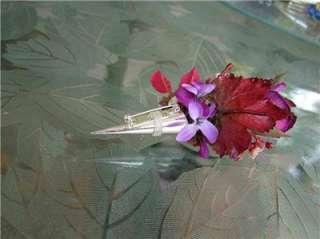 Purple Rose Corsage & Boutonniere WEDDING PROM