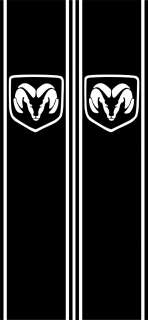 Dodge Ram Vertical Rear truck Bed Panel Decal with RAM symbol cutout