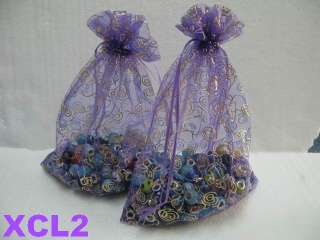 XCL2 Wedding Jewelry Favor Large Gift Bag Organza 7x9