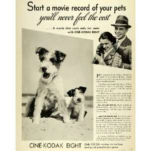 1938 Ad Canadian Kodak Co Cine Kodak Movie Filming Camera