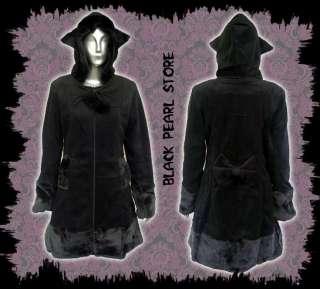 Lolita JACKE Mantel Gothic Girl KatzenOhren Fell Gr.L