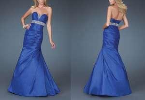 custom Mermaid Strapless Sweetheart Floor length Taffeta Wedding/Prom