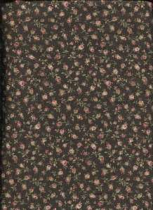 ANTIQUE ROSE SMALL FLORAL   Cotton Fabric BTY for Quilting, Crafts