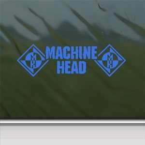 Machine Head Blue Decal Metal Rock Band Window Blue