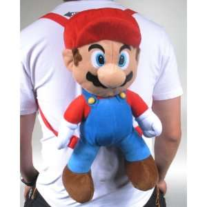 Cute Super Mario Bros Plush Backpack Pouch Soft Doll Toys