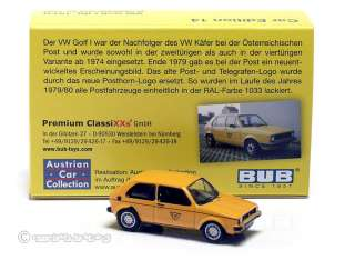 austrian car collection fuer die oesterreichische post in gelber