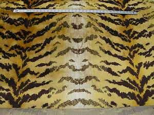 Velvet Tiger Skin fabric, Designer Quality, Jacquard woven animal skin