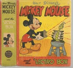 Mickey Mouse and the Lectro Box #1413 Big Little Book 1946 FN/+