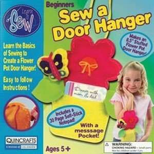 Quincrafts Flower Pot Door Hanger Learn To Sew Kit Arts