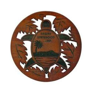 Laser Cut Wood Coasters Diamond Turtle 50th.: Kitchen & Dining