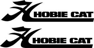 Qty 2 Hobie Cat Boat Vinyl Sticker Decal 36