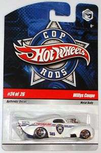 2009 Cop Rods #24 metallic white 41 Willys Coupe 027084672367