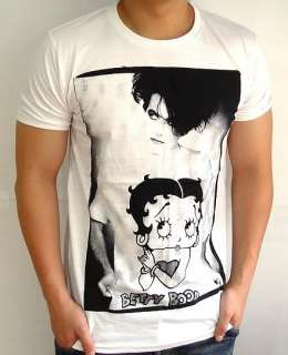 THE CURE Robert Smith BETTY BOOP Goth Punk T Shirt M