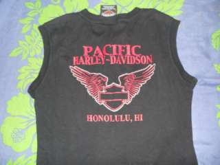 Honolulu Hi Harley Davidson Motor Cycle Black Tshirt S