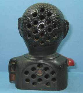 JOLLY N MECHANICAL CAST IRON BANK GUARANTEED OLD & AUTHENTI CI727