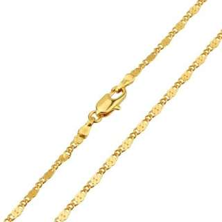 17.7 Classy 18K Yellow Gold Filled Womens Necklace Unique buckle