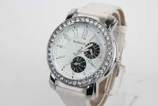 New Watch Fashion Leather Casual WristWatch Women Ladies Girls