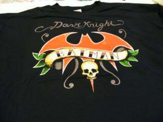 Dark Knight Batman Tattoo Logo T Shirt DC Comics New
