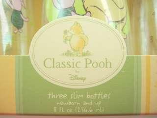 SET 3 Disney classic Pooh slim bottles baby feeding NEW