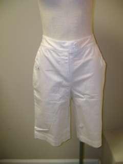 Susan Graver Stretch Sateen Tab Pocket Flat Front Short