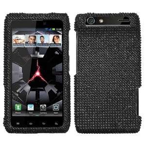Motorola Droid RAZR XT912 XT910   CRYSTAL BLING HARD CASE COVER BLACK