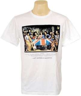 Last Supper of POP ROCK STAR Graffiti Men Guy T Shirt L