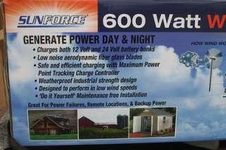 600 watt Power Sunforce Wind Generator Turbine   Mill
