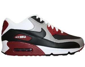 Nike Air Max 90 Medium Grey/White Black Team Red Mens Running Shoes
