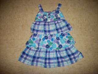 zoey girl purple plue ruffle printed dress size 5