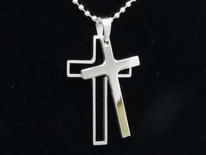 Stainless Steel Mens Puzzle Necklace 50 Cent 0cZ