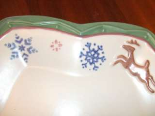 Large Star Shaped Pfaltzgraff Nordic Christmas Platter