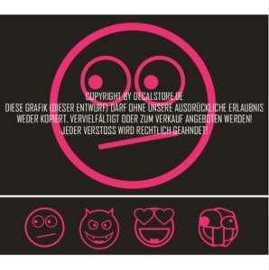 Smiley Aufkleber  Sticker  Tuning  OEM  JDM  Set1