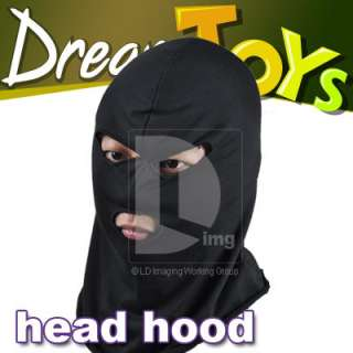 Hole Winter mask ski cap head cover snow cold BLACK color DH137