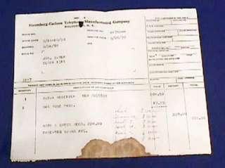 1930 Stromberg Carlson Radio Receiver Tube Receipt