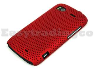Mesh Back Case Cover HTC Sensation 4G XE Z715E Red